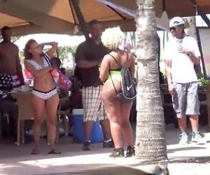 Black Girl Flashing Tube